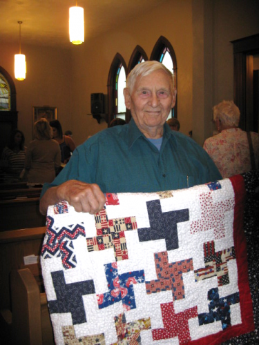 Roy Hilgendorf, Quilt of Valor, 6.10.18